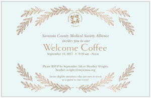 We have wonderful annual events, such as our traditional Welcome Coffee